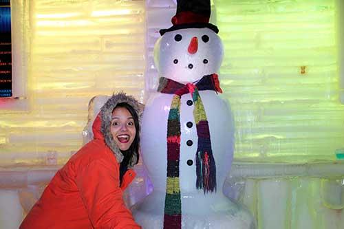 boneco de neve icebar