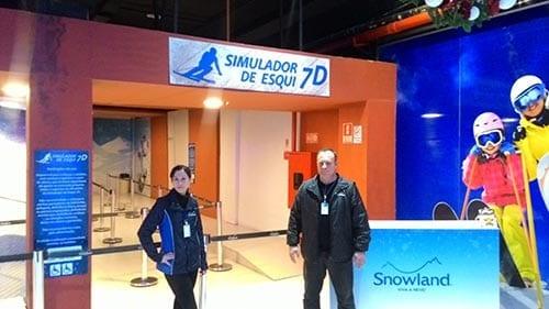 simulador de esqui 7d snowland