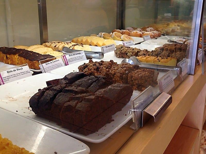 Opções de bolo