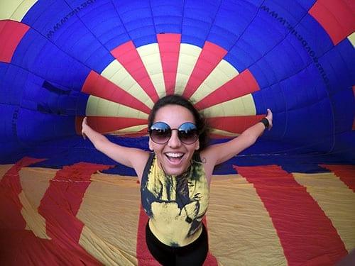 foto dentro do balão