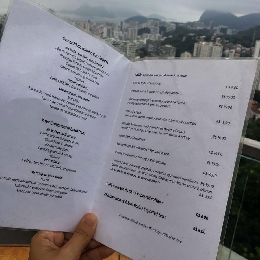 café da manhã the villa rio