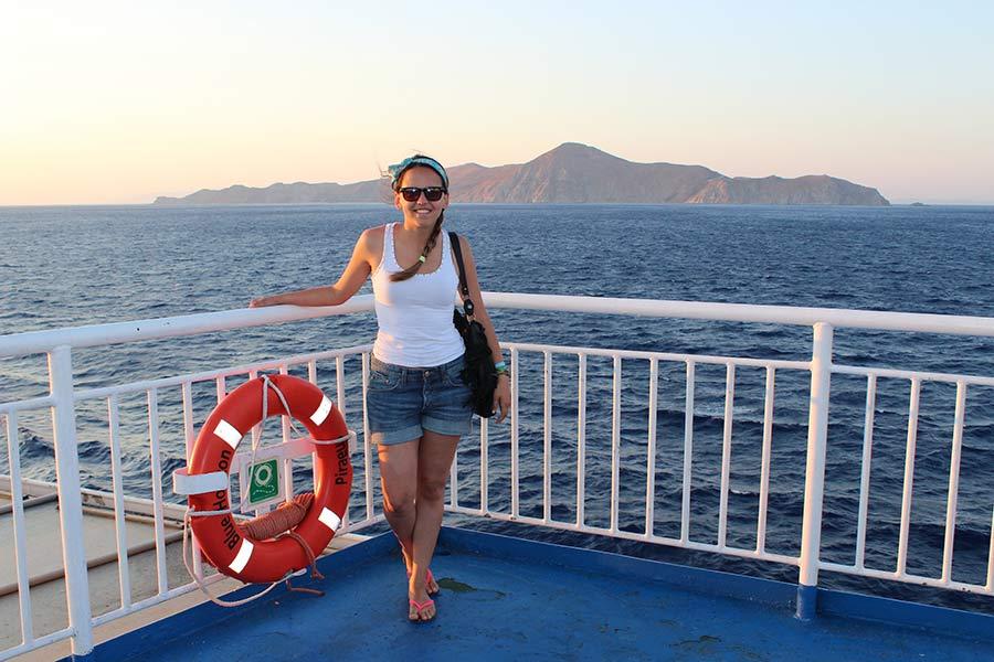 ferry atenas santorini