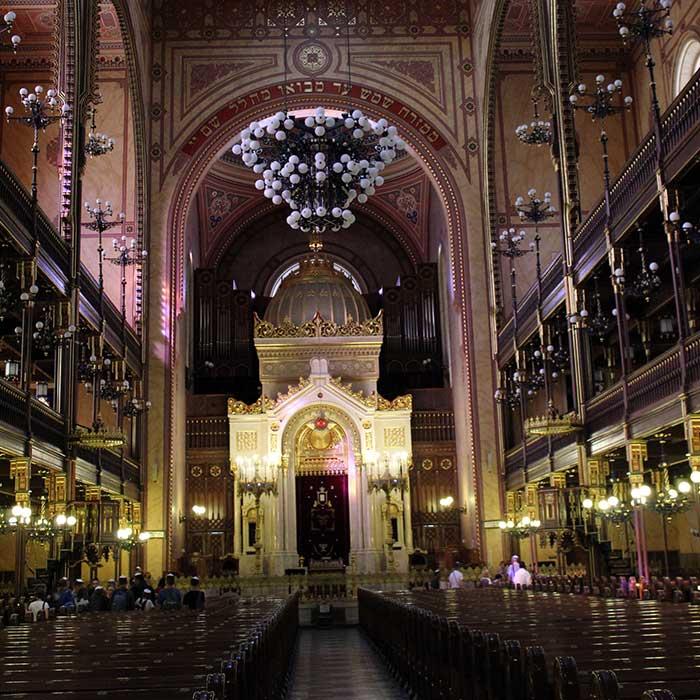 sinagoga budapeste interior