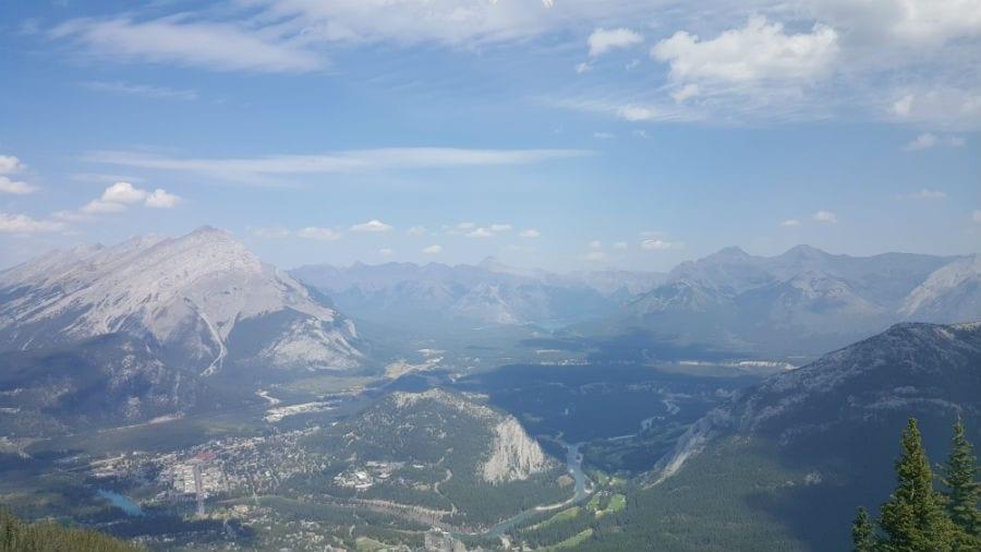 Sulphur mountain e vista de Banff