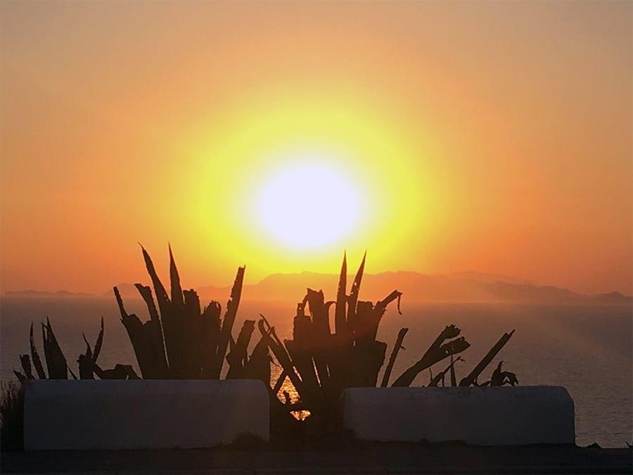 por do sol rhodes