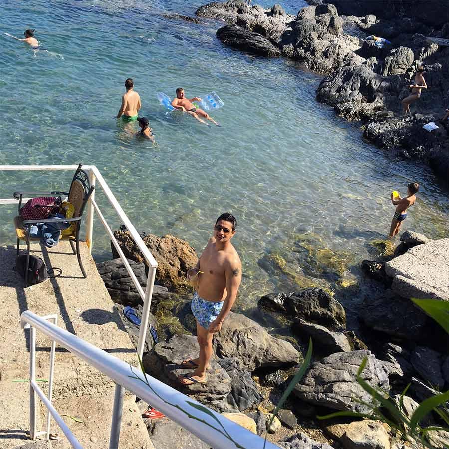 praia privada lindos hotel rhodes grécia