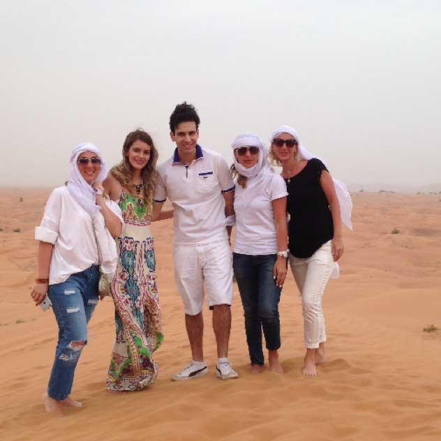 safari no deserto areia