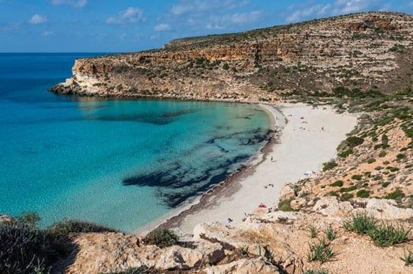 Praias da Europa: Spiaggia dei Conigli, Lampedusa, Itália.
