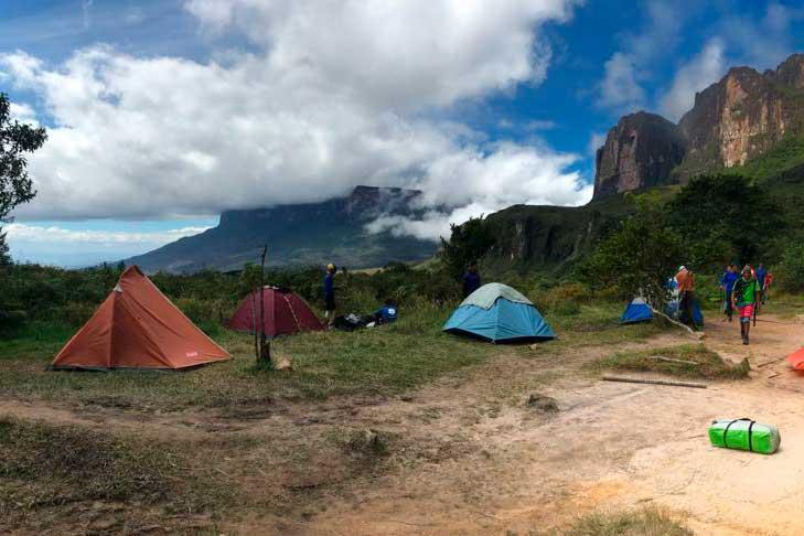 acampamento monte roraima