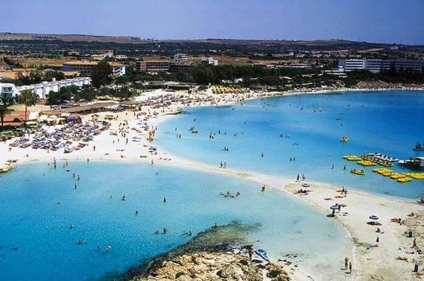 Praias da Europa: Ayia Napa, Chipre.