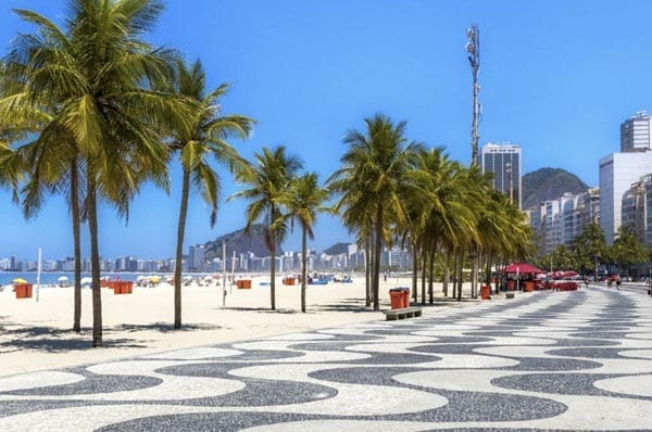 Praias para passar o ano novo: Copacabana, Rio de Janeiro.