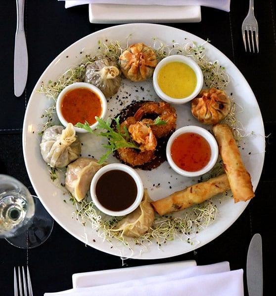 entrada comida asiática