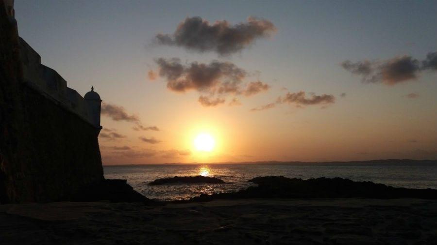 forte de santa maria por do sol salvador