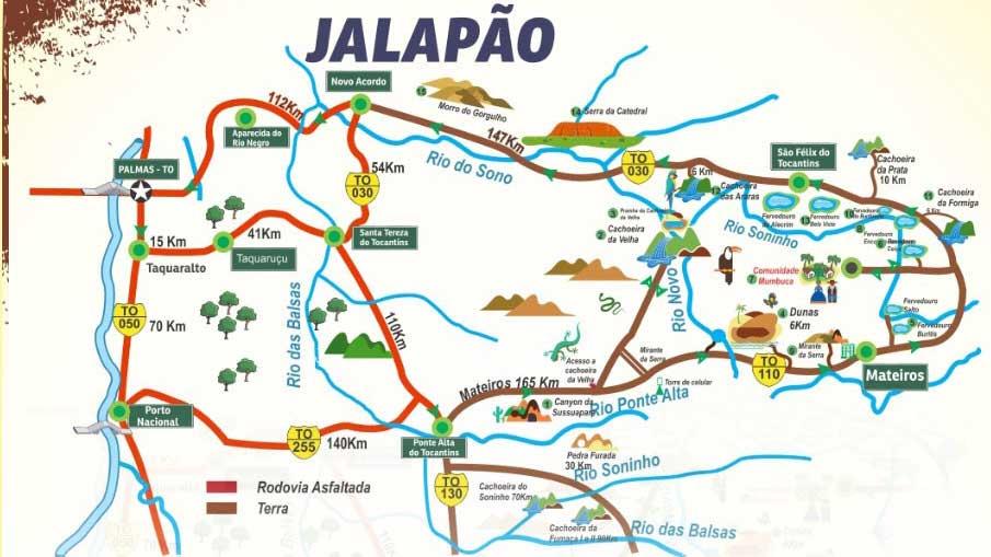 mapa jalapão