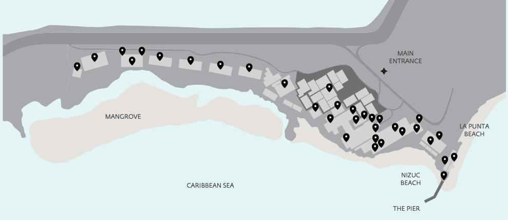 mapa nizuc cancun