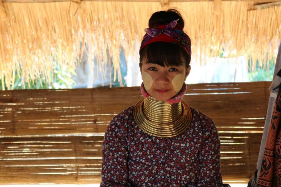 mulheres girafa tailandia