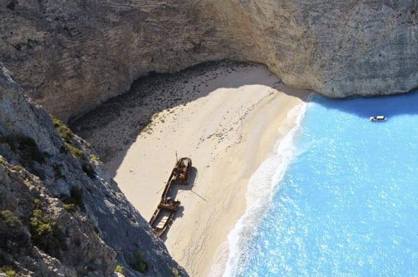 Praias da Europa: Navagio Beach, Zakynthos, Grécia.
