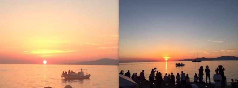 por do sol mykonos grecia