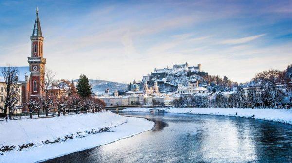 Salzburgo lugares para viajar no frio