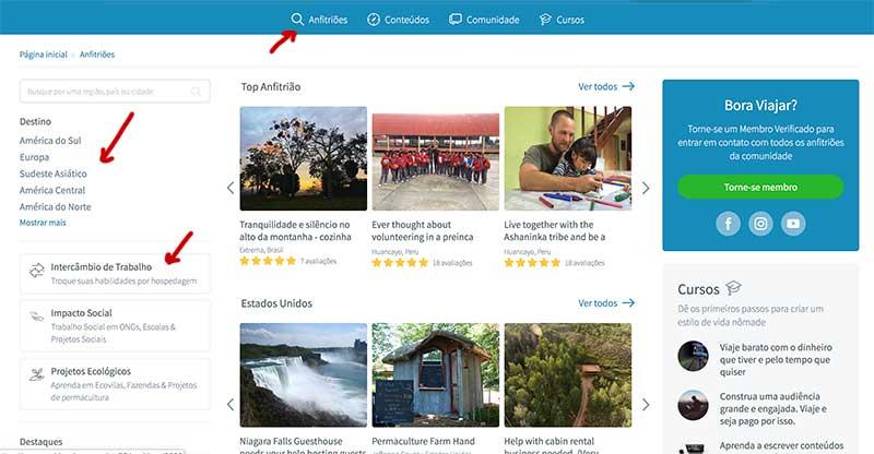 site worldpackers brasil