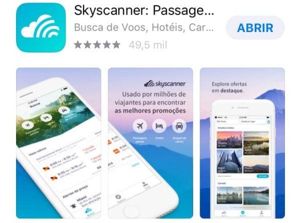 skyscanner aplicativos de viagem