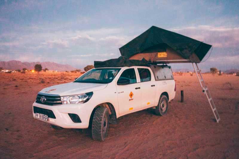 viagem de carro namíbia