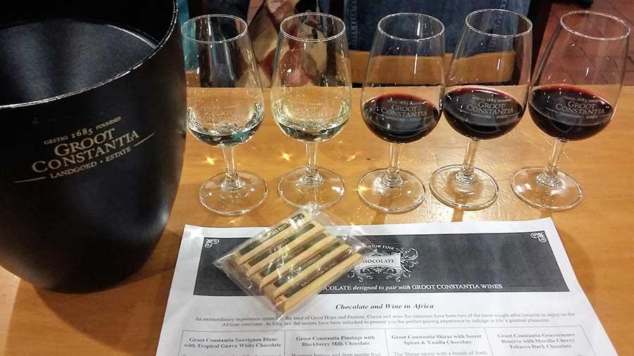wine taste groot constantia